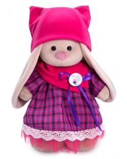 Плюшена играчка Budi Basa - Зайка Ми, с рокличка с яка и шапка, 25 cm