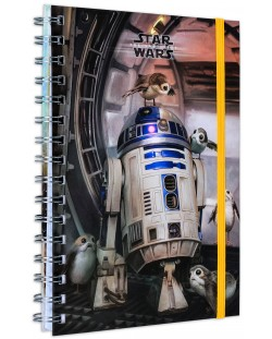 Тефтер Pyramid - R2-D2 and Porgs