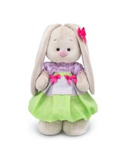 Плюшена играчка Budi Basa - Зайка Ми, с пролетна рокличка, 25 cm
