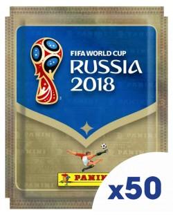 Стикери Panini FIFA World Cup Russia 2018 - комплект с 50 пакета / 250 бр. стикери