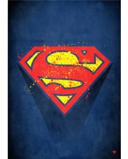 Метален постер Displate - Superman logo
