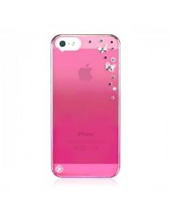 Swarovski Butterflies Mirror за iPhone 5 -  розов