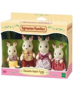 Комплект фигурки Sylvanian Families - Семейство зайчета, Chocolate
