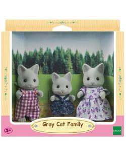 Комплект фигурки Sylvanian Families - Семейство котета, сиви