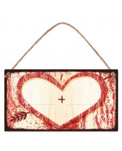 Табелка - Сърце - за дописване