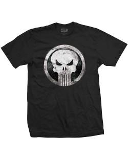Тениска Rock Off Marvel Comics - Punisher Metal Badge