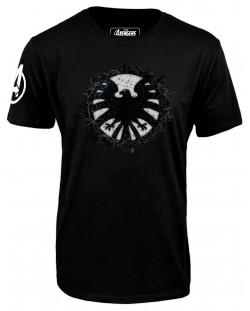 Тениска Avengers - S.H.I.E.L.D Logo, черна