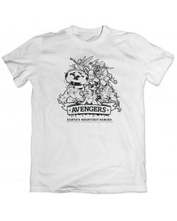 Тениска Avengers - Earth's Mightiest Heroes, бяла