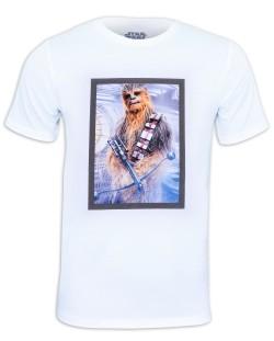 Тениска Star Wars - Chewbacca, бяла