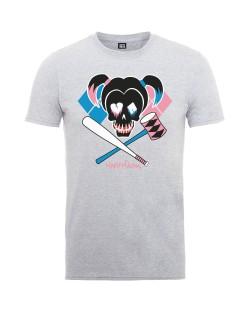 Тениска Rock Off DC Comics - Suicide Squad Harley Skull Emblem