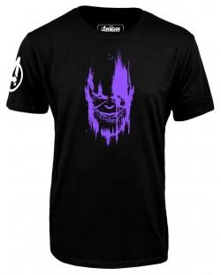 Тениска Avengers Infinity War - Thanos, черна