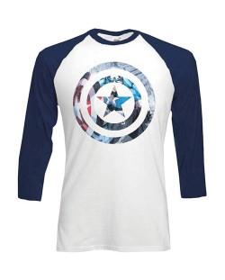Тениска Rock Off Marvel Comics - Captain America Shield Block