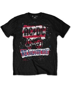 Тениска Rock Off AC/DC - We Salute You Stripe