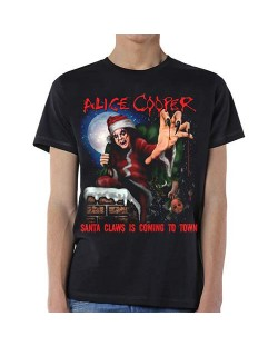 Тениска Rock Off Alice Cooper - Santa Claws