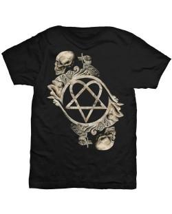 Тениска Rock Off HIM - Bone Sculpture
