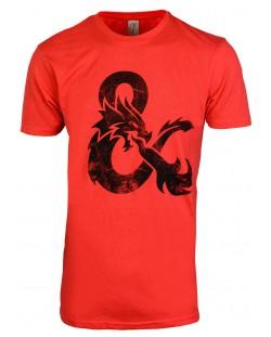 Тениска Rock Me Dungeons & Dragons - Ampersand, M (червена)