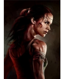 Метален постер Displate - Tomb Raider