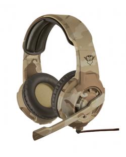 Гейминг слушалки Trust GXT 310D Radius - desert camo