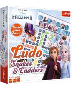 Детска игра Trefl Frozen 2 - Не се сърди, човече и Змии и стълби