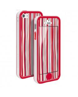 Tunewear Poptune Stripe за iPhone 5 -  червен