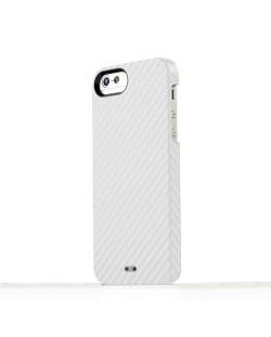 Tunewear Carbonlook за iPhone 5 -  бял
