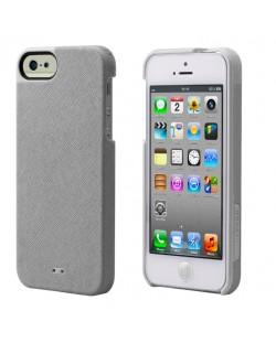 Tunewear Leatherlook за iPhone 5 -  сребрист