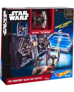 Hot Wheels Star Wars Игрален комплект - Tie Fighter