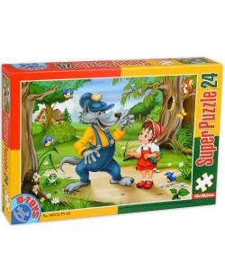 Пъзел D-Toys от 24 части - Червената шапчица