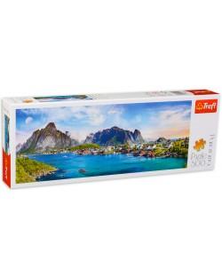 Панорамен пъзел Trefl от 500 части - Лофотенски архипелаг, Норвегия