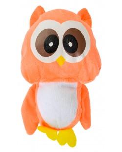 Плюшена играчка Morgenroth Plusch - Оранжево бухалче, 22 cm