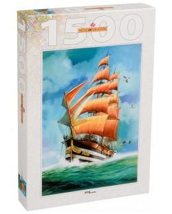 Пъзел Step Puzzle от 1500 части - Плаващ кораб, Луис Бъргайо