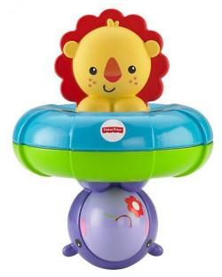 Играчка за баня Fisher Price - С лъв и хипопотам