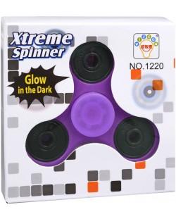 Антистресова играчка Fidget Spinner - Наситено лилав