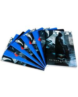 Комплект от 10 двулицеви тетрадки Batman - A4, 42 листа, широки редове