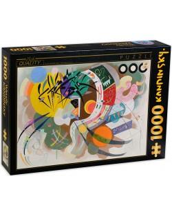 Пъзел D-Toys от 1000 части - Доминантен залив, Василий Кандински
