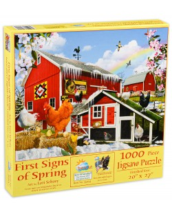Пъзел SunsOut от 1000 части - Първите знаци на пролетта, Лори Шори