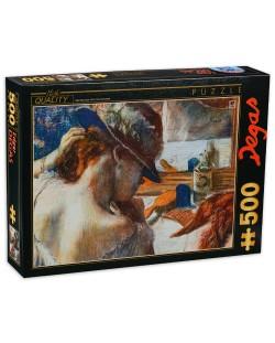 Пъзел D-Toys от 500 части - Пред огледалото, Едгар Дега