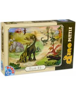 Пъзел D-Toys от 35 части - Динозаври на пътеката