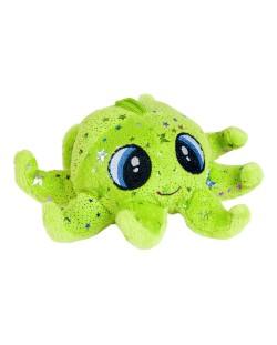 Плюшена играчка Morgenroth Plusch - Зелен октопод, 16 cm