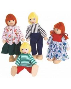 Дървени кукли Woody – Семейство, 4 броя