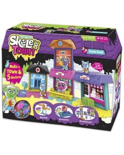 Игрален комплект Skeletown - Град, с 5 фигурки-скелети