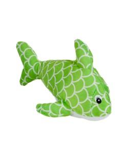 Плюшена играчка Morgenroth Plusch - Зелена рибка, 22 cm