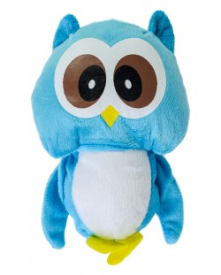 Плюшена играчка Morgenroth Plusch - Синьо бухалче, 22 cm