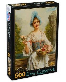 Пъзел D-Toys от 500 части - Продавачката на цветя, Леон Франсоа Комер