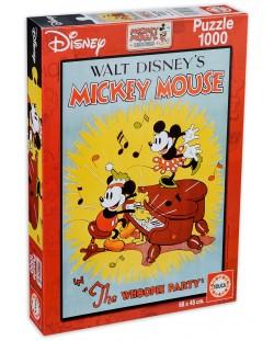 Пъзел Educa от 1000 части - Празникът на Мики Маус