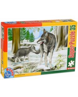 Пъзел D-Toys от 35 части - Вълци