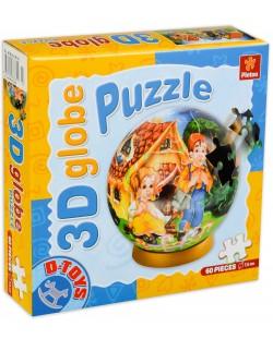 3D пъзел D-Toys от 60 части - Хензел и Гретел, глобус