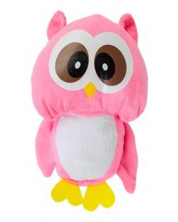 Плюшена играчка Morgenroth Plusch - Розово бухалче, 22 cm