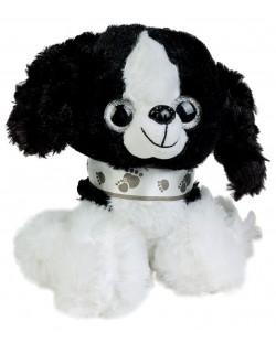 Плюшена играчка Morgenroth Plusch - Бяло кученце, 20 cm