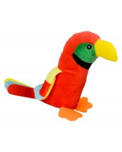 Плюшена играчка Morgenroth Plusch - Червен папагал, 28 cm
